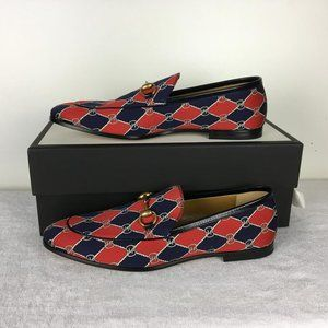 Gucci Man Shoes Loafers Mini King Rhombus DM2
